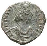 8 Nummi - Justinian I (Thessalonica; Type ☧) – obverse