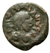 2 Nummi - Justinian I (Thessalonica) – obverse