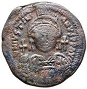20 Nummi - Justinian I (Cyzicus) – obverse