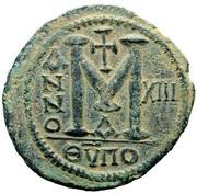 40 Nummi - Justinian I (Antioch; Θ⊽ΠO; Bust Facing) – reverse