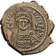 40 Nummi - Justinian I (Antioch; 9HЧΠº; Bust Facing) – obverse