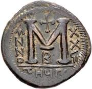 40 Nummi - Justinian I (Antioch; τHЧΠ∕; Bust Facing) – reverse