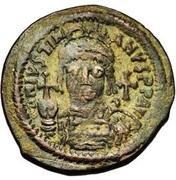 40 Nummi - Justinian I (Antioch; τHЧϱ; Bust Facing) – obverse
