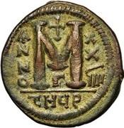 40 Nummi - Justinian I (Antioch; τHЧϱ; Bust Facing) – reverse