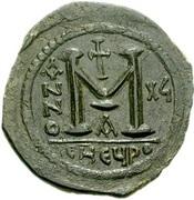 40 Nummi - Justinian I (Antioch; CHЄЧPO; Bust Facing) – reverse