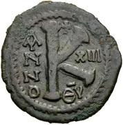 20 Nummi - Justinian I (Antioch; ΘV; Bust Facing) – reverse