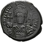 20 Nummi - Justinian I (Antioch; CH; Bust Facing) – obverse
