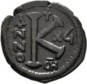 20 Nummi - Justinian I (Antioch; CH; Bust Facing) – reverse