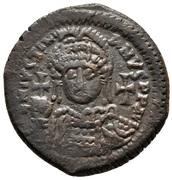 20 Nummi - Justinian I (Antioch; ºΠ∕; Bust Facing) – obverse