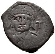 20 Nummi - Justinian I (Antioch; ϱ; Bust Facing) – obverse