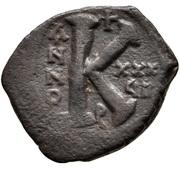 20 Nummi - Justinian I (Antioch; ϱ; Bust Facing) – reverse