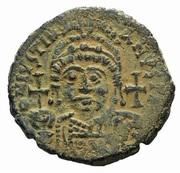 20 Nummi - Justinian I (Antioch; ϱ; Bust Facing) -  obverse