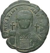 40 Nummi - Justinian I (Carthage; SO, Bust Facing) – obverse