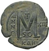 40 Nummi - Justinian I (Carthage; SO, Bust Facing) – reverse