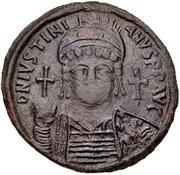 40 Nummi - Justinian I (Carthage; S, Bust Facing) – obverse