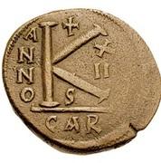 20 Nummi - Justinian I (Carthage; S, Bust Facing) – reverse