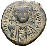 20 Nummi - Justinian I (Carthage; SO, Bust Facing) – obverse