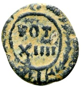 Nummus - Justinian I (VOT XIIII; Carthage) – reverse