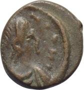 Nummus - Justinian I (Carthage; ☧) – obverse