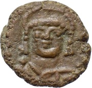 Nummus - Justinian I (Carthage; C N) – obverse