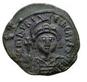 40 Nummi - Mauricius Tiberius (Cyzicus) – obverse
