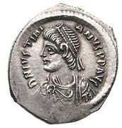 Miliarense - Justinian I (GLORIA ROMANORVM; Constantinopolis; Bust Left) – obverse