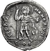 Miliarense - Justinian I (GLORIA ROMANORVM; Constantinopolis; Shield, Bust Right) – reverse