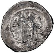 Miliarense - Justinian I (GLORIA ROMANORVM; Constantinopolis; Head Right, Bust Right) – reverse