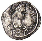 ½ Siliqua - Justinian I (Carthage; Monogram) – obverse