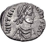 ½ Siliqua - Justinian I (Carthage; ⳨) – obverse