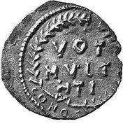 ½ Siliqua - Justinian I (VOT MVLT HTI; Carthage) – reverse