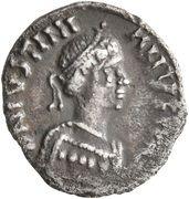 250 Nummi - Justinian I (Ravenna; Symbol) – obverse