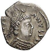 ½ Siliqua - Justinian I (Ravenna; ♁) – obverse