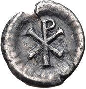 ½ Siliqua - Justinian I (Ravenna; ☧) – reverse