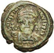 20 Nummi - Justinian I (Perugia; II) – obverse