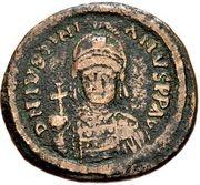40 Nummi - Justinian I (Rome; Bust Facing, ✶) – obverse