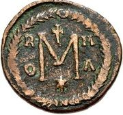 40 Nummi - Justinian I (Rome; Bust Facing, ✶) – reverse