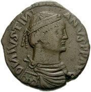 40 Nummi - Justinian I (Rome; ✶M✶ A) – obverse