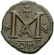 40 Nummi - Justinian I (Rome; ✶M✶ A) – reverse