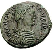 40 Nummi - Justinian I (Rome; ✶M☩ A) – obverse