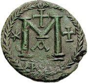 40 Nummi - Justinian I (Rome; ✶M☩ A) – reverse