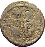 40 Nummi - Justin II and Aelia Sophia (Cyzicus) – obverse