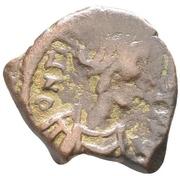 5 Nummi - Mauricius Tiberius (Constantinopolis) – obverse