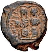 20 Nummi - Justin II and Aelia Sophia (Thessalonica; + type) – obverse