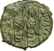 20 Nummi - Justin II and Aelia Sophia (Thessalonica; θ+ϲ type) – obverse