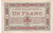 1 Franc - Chambres de Commerce de Cahors – reverse