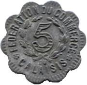 5 Centimes (Calaisis) – reverse
