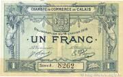 1 franc - Chambre de Commerce de Calais [62] – obverse