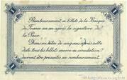 1 franc - Chambre de Commerce de Calais [62] – reverse