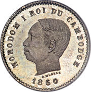 50 Centimes - Norodom I – obverse